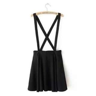 Black Suspender Skirt