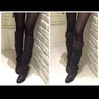 All Black深咖啡色長靴