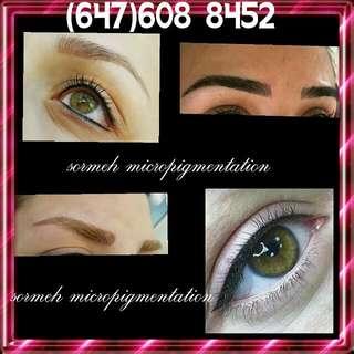 Permanent makeup, micropigmentation