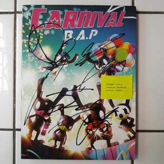 B.A.P 5th Mini Album Carnival Special Edition (signed by all members) REPRICE