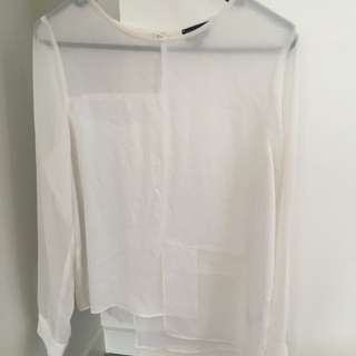 Ladies White Topshop Top