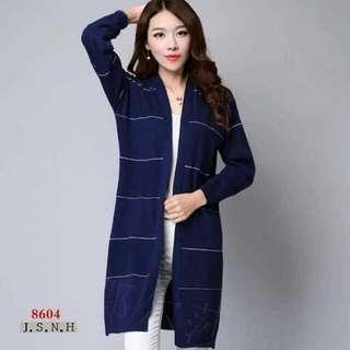 knitted long blazer