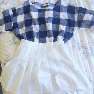 Korean Oversized Checkered T-shirt