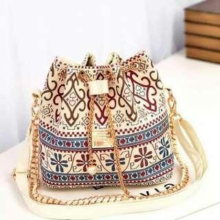 Boho Bucket Sling Bags
