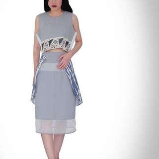 sheer skirt tenun
