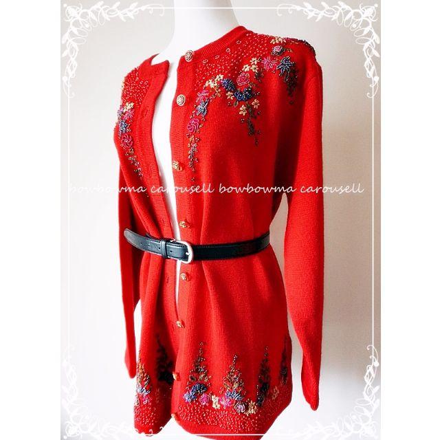 專櫃全新!Luxury Couture Style Wool Coat 精品夏姿風格手工刺繡綴珠羊毛外套大衣