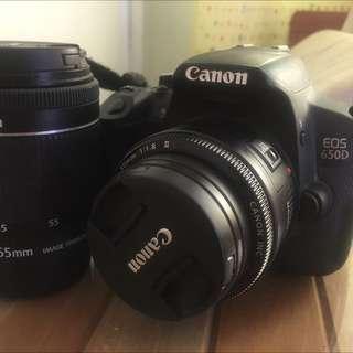 Canon 650d + Kit Lens 18-55mm