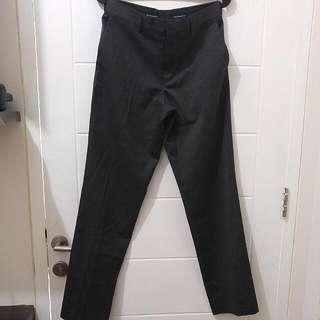 Celana Bahan/Kantor The Executive Original Warna Abu-Abu Gelap Ukuran 29