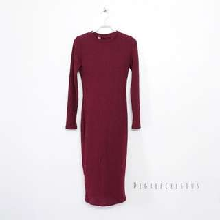 Basic RIBBED Midi Dress