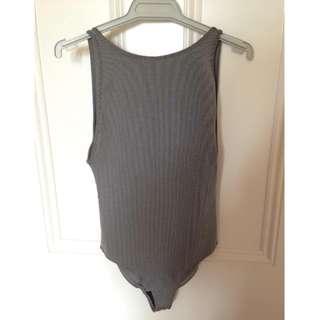 H&M Ribbed Low Back Bodysuit