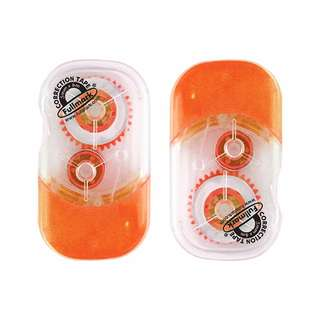 Fullmark Model E, Correction Tape 2pcs Pack - Orange, 5mm X 6m
