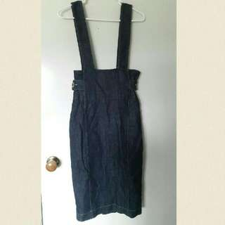 Denim Dress Overalls Size 10