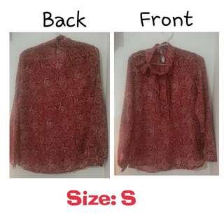 Kemeja Merah Transparan