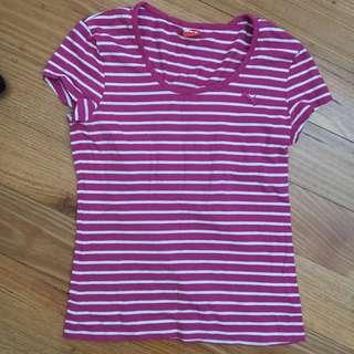 Puma Pink Striped Tshirt