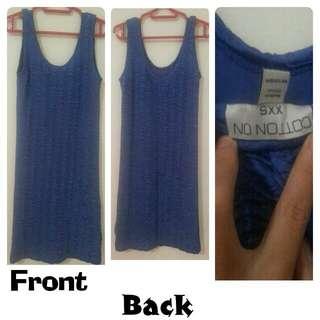 Dress Biru - Cotton ON Size XXS