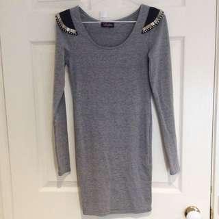 Lolitta Grey Embellished Dress