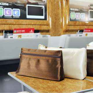 New Amenity Kit Pouch from Bvlgari for Emirates Business Class Color Brown