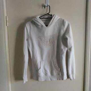 White Roxy Hooded Jumper