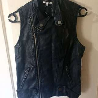 Valley Girl Black Faux Leather Jacket