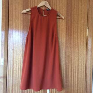 American Apparel Burnt Orange Dress