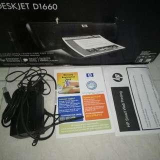 Printer HP Deskjet D1660 ,msh Mantabzz Dari Beli Jarang Sekali Di Pakai ,kumplit Plit Sampe  Kartu Garansi Msh Ada ..harga Jgn Di Nego Sdh Ama Ongkir Gan..cod Cibubur -cijantung..nego Sampai Jadi