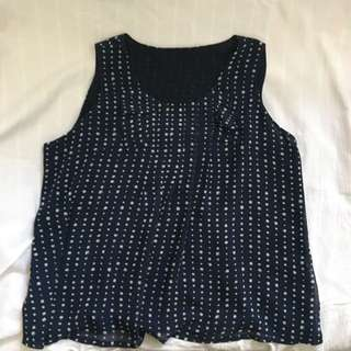 Polkadot Sleeveless Blouse