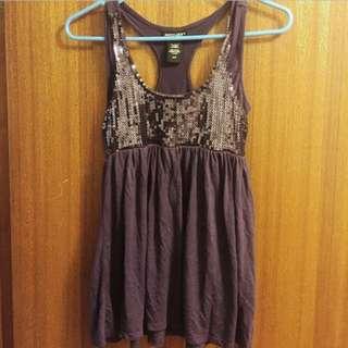 Purple Dressy Sequin Top