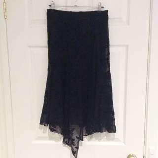 Very Very Black Lace Skirt