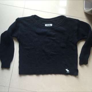 Abercrombie And Fitch Logo Cropped Sweater