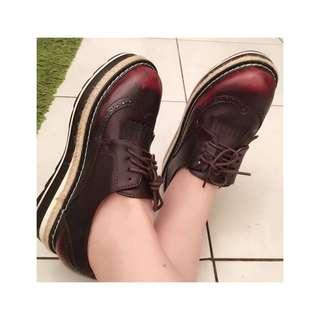 英倫 松糕 牛津 Stella McCartney款 厚底鞋