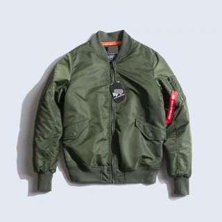 {全新}秋冬超暖款MA-1飛行外套 防風/防潑水/四色(綠、黑、藍、紅) 加厚款