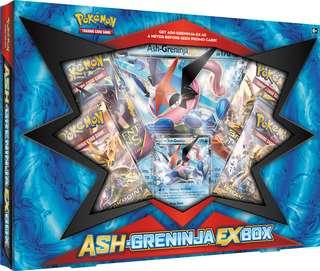 Authentic Pokemon Card ASH-Greninja-Ex Box Set