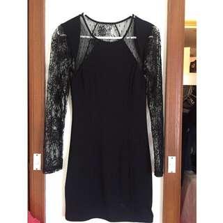 Bardot Lace Black Dress