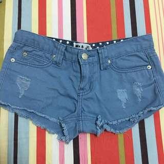 藍色 低腰 短褲