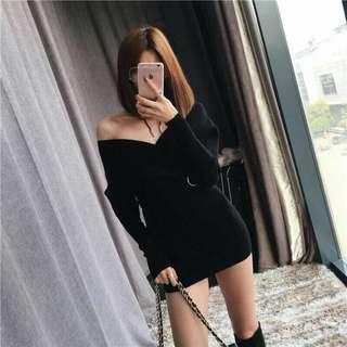 黑洋裝(包臀)