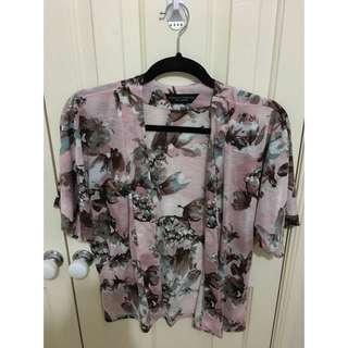 Pink Floral Kimono Size 10