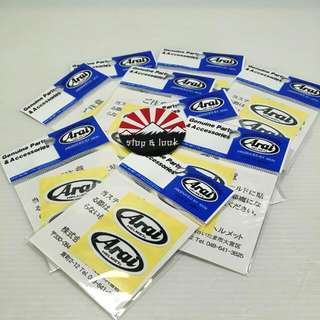 Arai Shield Sticker
