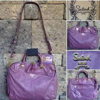 Salad Purple Pure Leather Bag