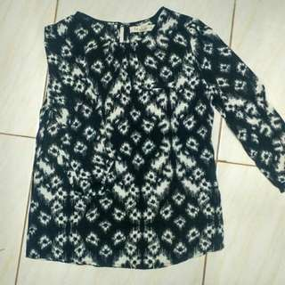 Nyla Batik Pattern - Black White