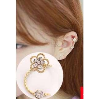 [Earrings] Flower Clip on Earring (non piercing)
