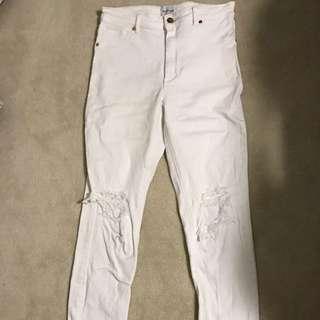 A Brand White Jeans