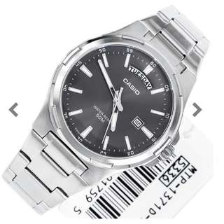 Casio Grey Dial Watches  No: MTP-1371D-8AVDF MTP1371S