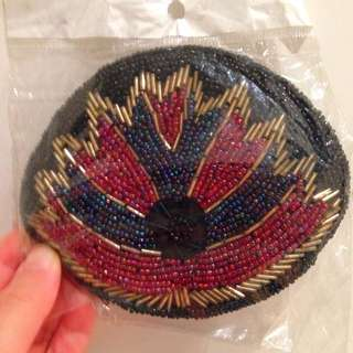 Hand Beaded Small Purse
