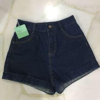AA inspired denim shorts