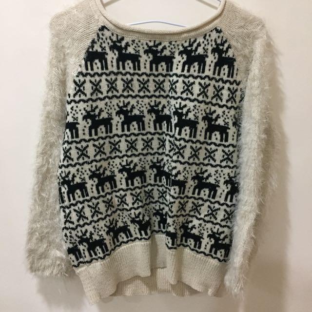 日本購回麋鹿毛衣