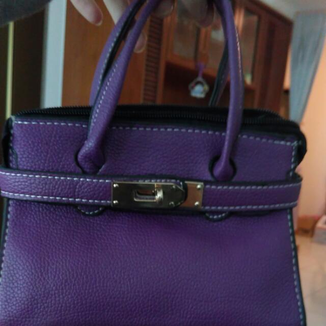 紫色手拿包/肩包