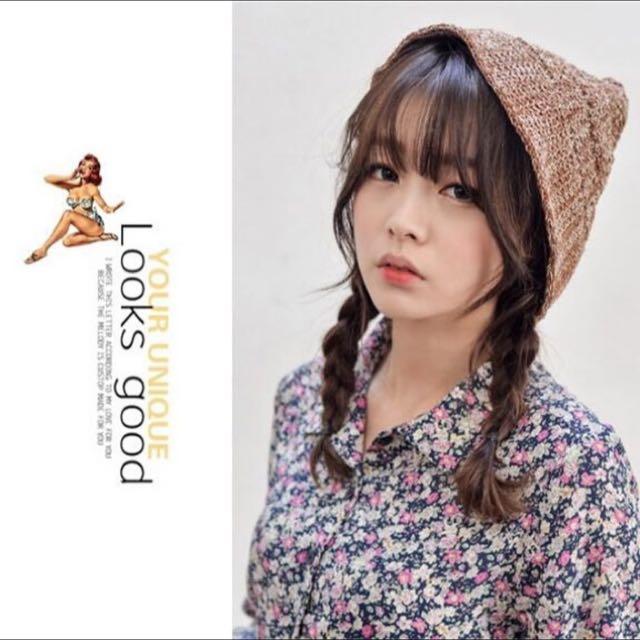 森女風針織帽/尖頂毛線帽子日系可愛漁夫帽