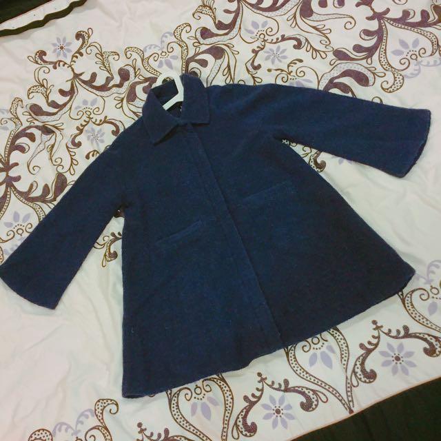 重量感靛藍傘狀外套