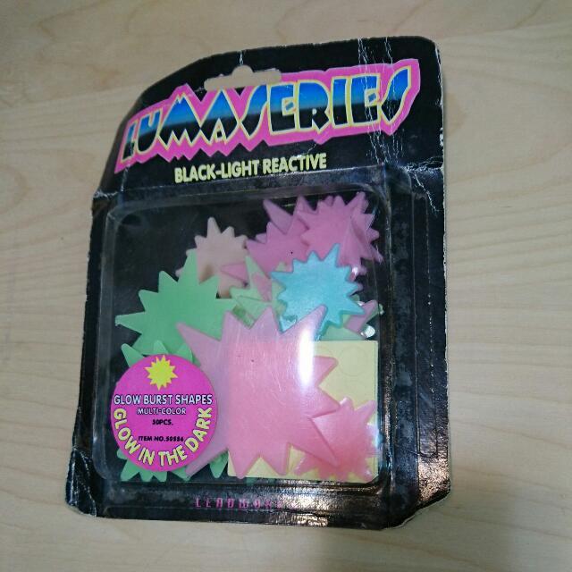 螢光 玩具 貼紙 裝飾