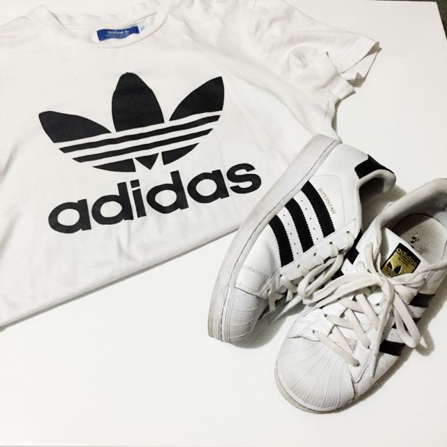 Adidas Superstars & Adidas Shirt